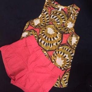 JCrew Set - Top (size 4) and Shorts (size2)